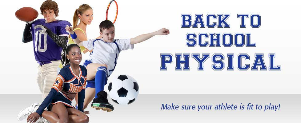 Back to School Physical - Make sure your athlete is fit to play!