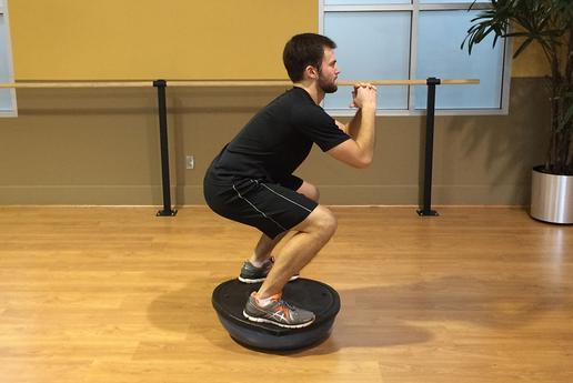 BOSU ball squats